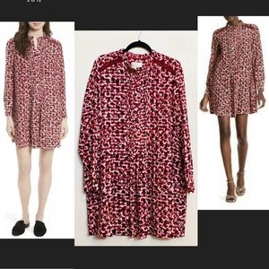 $398 Kate Spade XL Crimson Silk Swing Dress